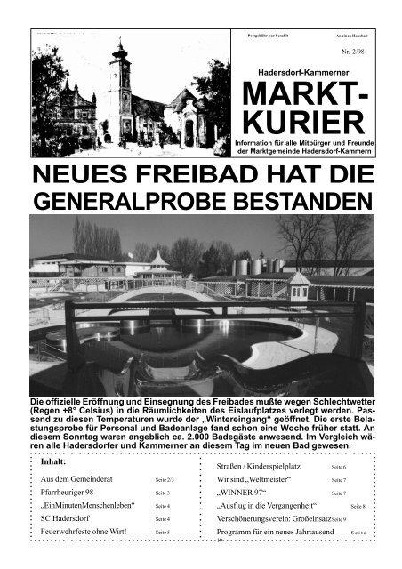Gesunde Gemeinde - Aktivitten - Hadersdorf-Kammern