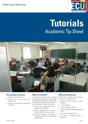 Tutorials - Edith Cowan University