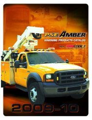 PSE Amber® The Brightest Lights for Warning and Safety