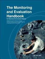 The Monitoring And Evaluation Handbook For Business - IFC
