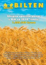 Ukupna upućena pomoć u BiH za 2010. iznosi: 1.229.569 kruna