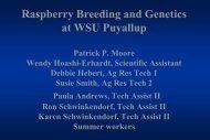 Raspberry Breeding Program Goals