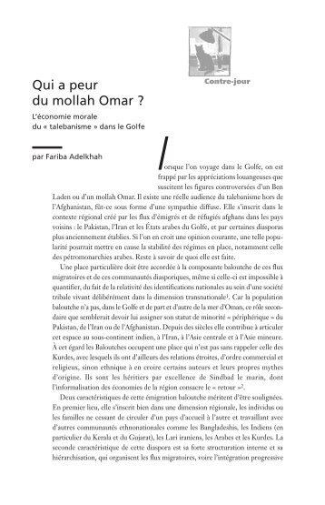 Qui a peur du mollah Omar ? - Spire - Sciences Po