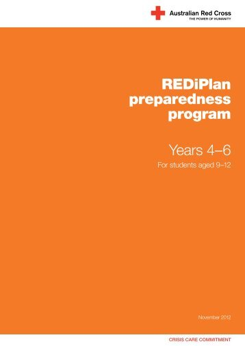REDiPlan preparedness program Years 4–6 - Australian Red Cross