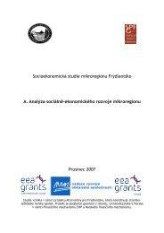 A. Analýza sociálně-ekonomického rozvoje mikroregionu - Jizersko ...