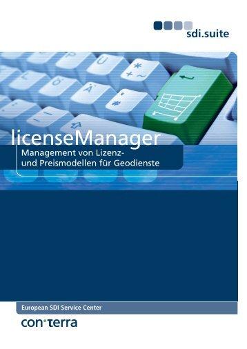 licenseManager - con terra GmbH