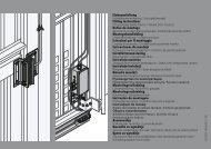 Einbauanleitung Fitting Instructions Notice de montage ...