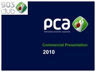 PCA Events - The Professional Cricketers' Association