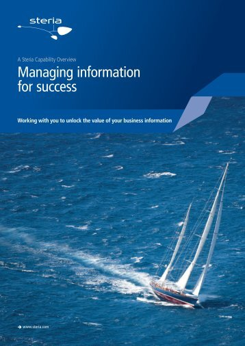 Managing information for success - Steria