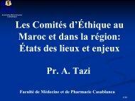 Les Comités d'Éthique au Maroc et dans la région - Transparency