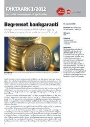 1-2012: Begrenset bankgaranti - Nei til EU
