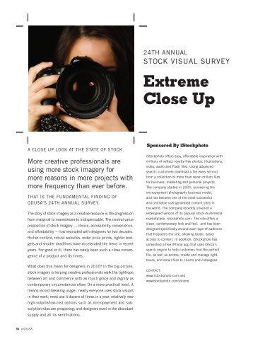 to download a pdf of the stock visual survey - Graphic Design USA