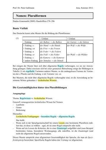 Nomen: Kasusflexion I (Grundregeln)