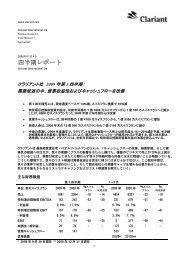 四半期レポート - Clariant