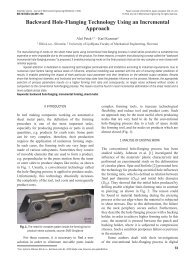 Backward Hole-Flanging Technology Using an Incremental Approach