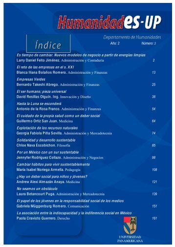 Revista de Humanidades - Universidad Panamericana