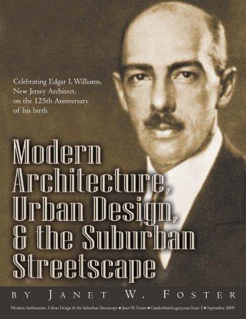 Modern Architecture, Urban Design & the Suburban Streetscape