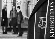 Kimbolton School Development Plan 2009-2014