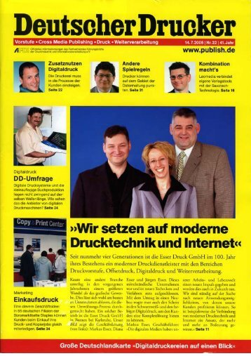 Deutscher drucker  (PDF: 219 kb) - Esser Druck Gmbh