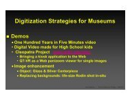 presentation (PDF) - Museums and the Web