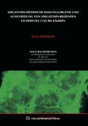 Shigatoxin-Spezifische Immunglobuline und Ausscheidung von ...