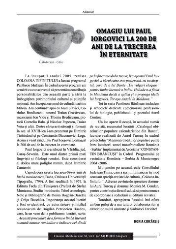 Revista Coloana Infinitului nr. 64 - Brancusi