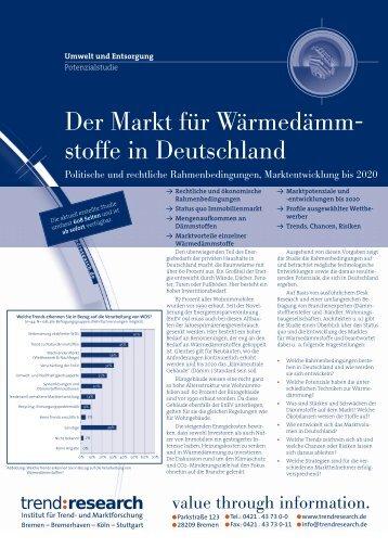 Der Markt für Wärmedämm- stoffe in Deutschland - trend:research