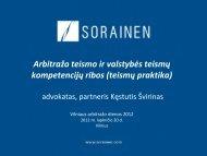 Arbitražo teismo ir valstybės teismų kompetencijų ribos ... - Sorainen