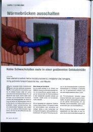 Wärmebrücken ausschalten - firma-web.ch