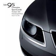 Saab Preisliste 95 - Motorline.cc