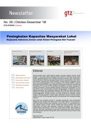 GTZ-IS GITEWS Newsletter 04-08 bahasa