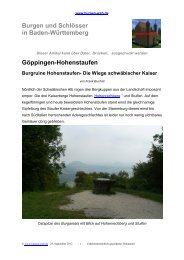 Göppingen-Hohenstaufen Burgruine Hohenstaufen - Burgen-Web.de