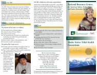 NRC / ANTHC brochure - National Resource Center for American ...