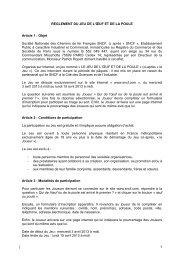 REGLEMENT DU JEU DE L'ŒUF ET DE LA POULE - SNCF.com