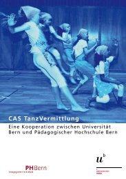 Broschüre CAS TanzVermittlung (pdf, 321KB) - Universität Bern