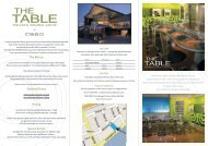 The Menus Optional Extras Pricing Special Events - The Coro