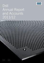 Annual report 11/12 - Dstl