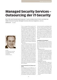 Managed Security Services – Outsourcing der IT ... - terreActive AG