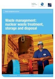 Waste management: nuclear waste treatment ... - Sellafield Ltd