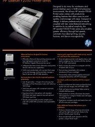 HP LaserJet P2050 Printer series