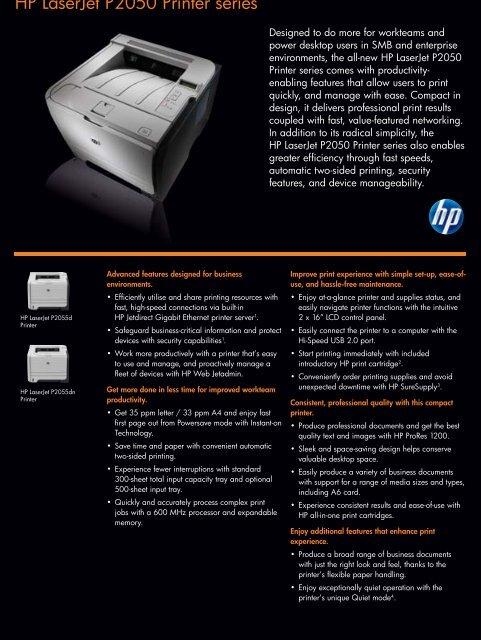 HP LASERJET P2050 SERIES PRINTER DRIVER FOR WINDOWS 10