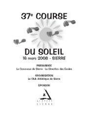 Course du Soleil - Club Athlétique de Sierre