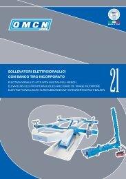 sollevatori elettroidraulici con banco tiro incorporato - Omcn
