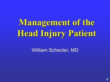 Management of the Head Injury Patient - San Francisco General ...