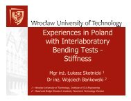 Experiences in Poland with Interlaboratory Bending Tests - Stiffness