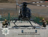 Jackson County Sheriff's Office 2010 Annual Report
