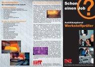 Info-Flyer des Industrieverbandes Härtetechnik / Hagen über den