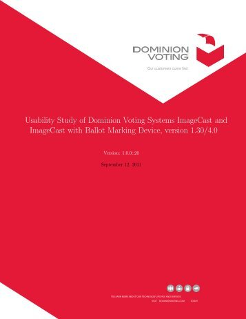 Usability Study Imagecast Precinct(ICP) - The US Election ...