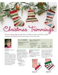to download FREE Christmas Trimmings stocking ... - McCalls Quilting