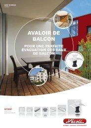 AVALOIR DE BALCON - Nicoll